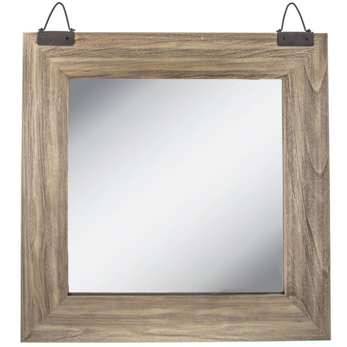 Hobby Lobby Industrial Square Wood Wall Mirror Mirror Wall Framed Mirror Wall Wood Wall Mirror