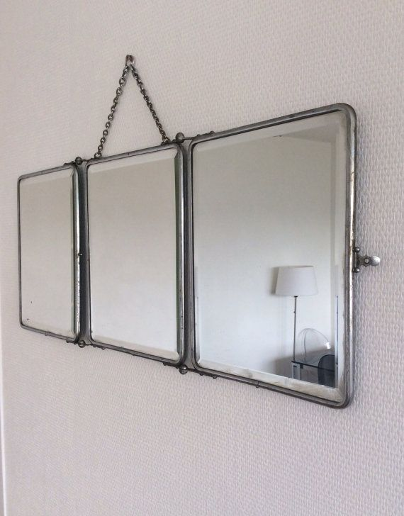 Antique mid century French barber mirror / por FrenchObjetsDavant