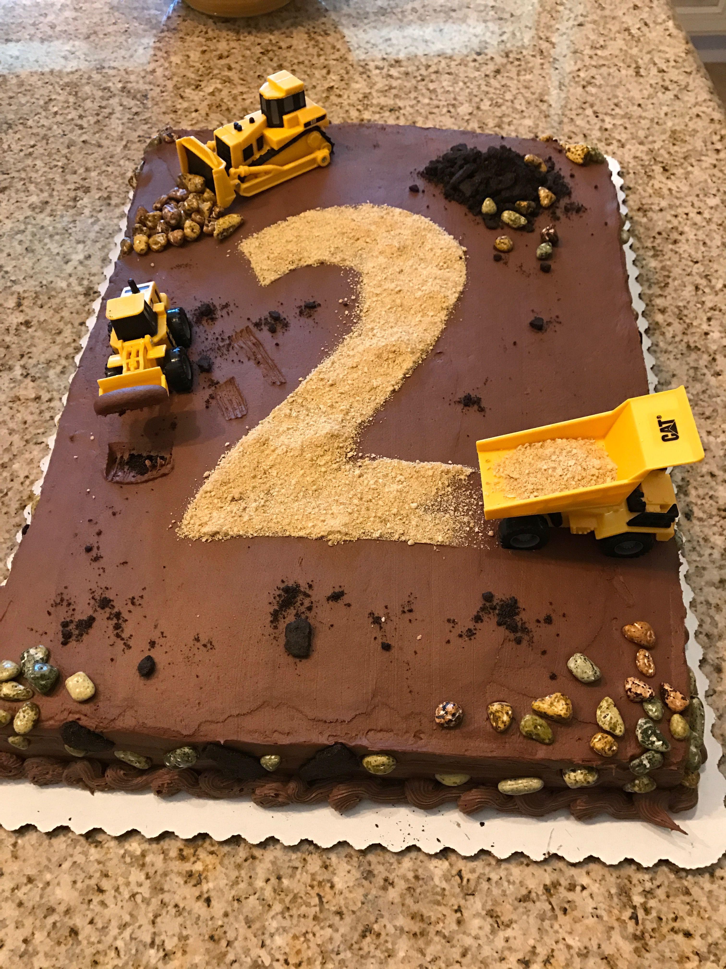 Pleasant 2Nd Birthday Construction Cake Sheet Cake Was Bought At Funny Birthday Cards Online Inifodamsfinfo