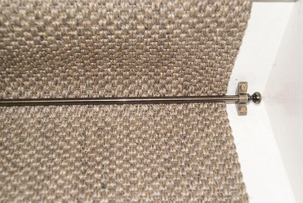 Best Sisal Oriental Pewter Stair Runner With Folded Edges 400 x 300
