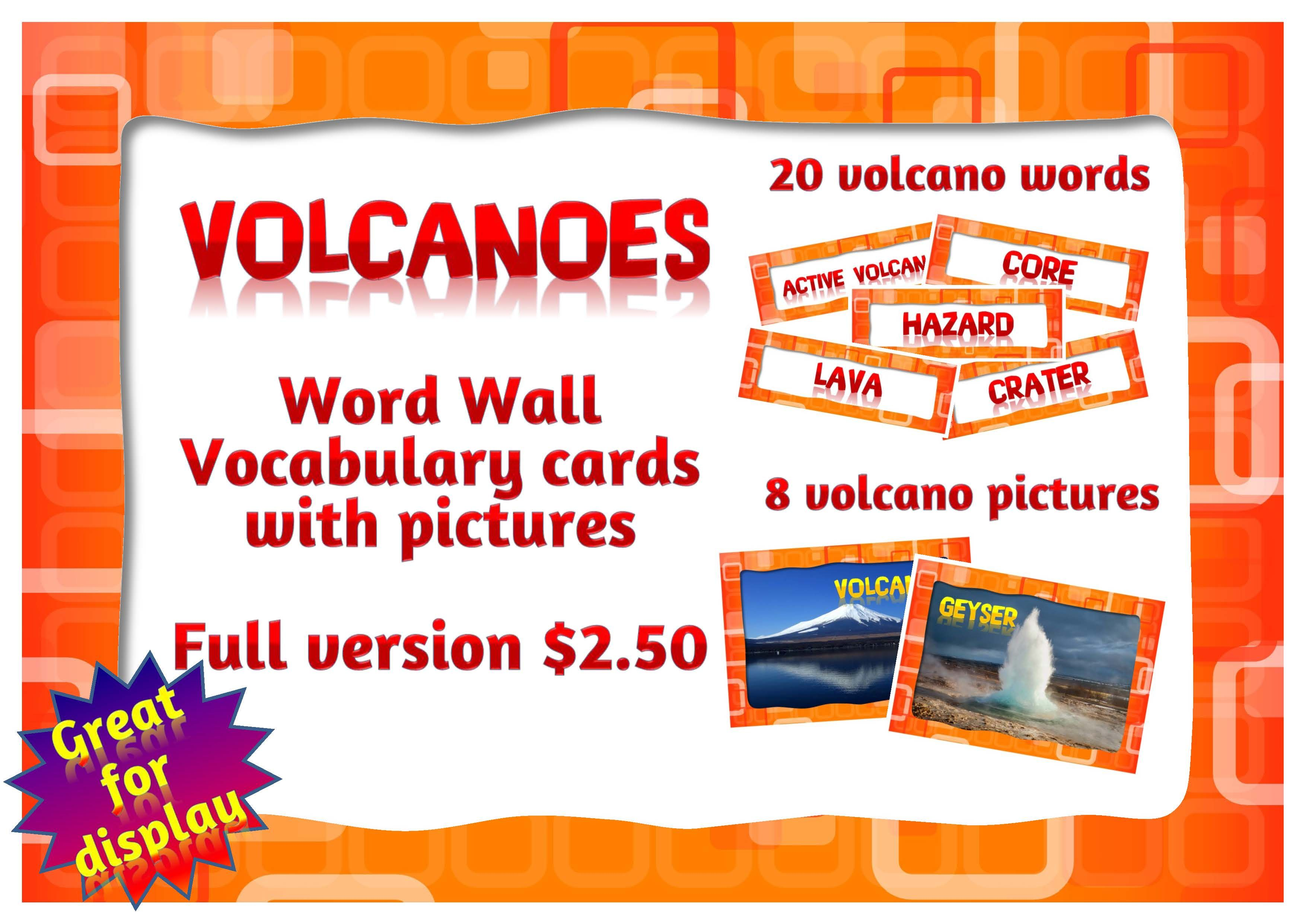 Volcano Posters For Class Display With Images