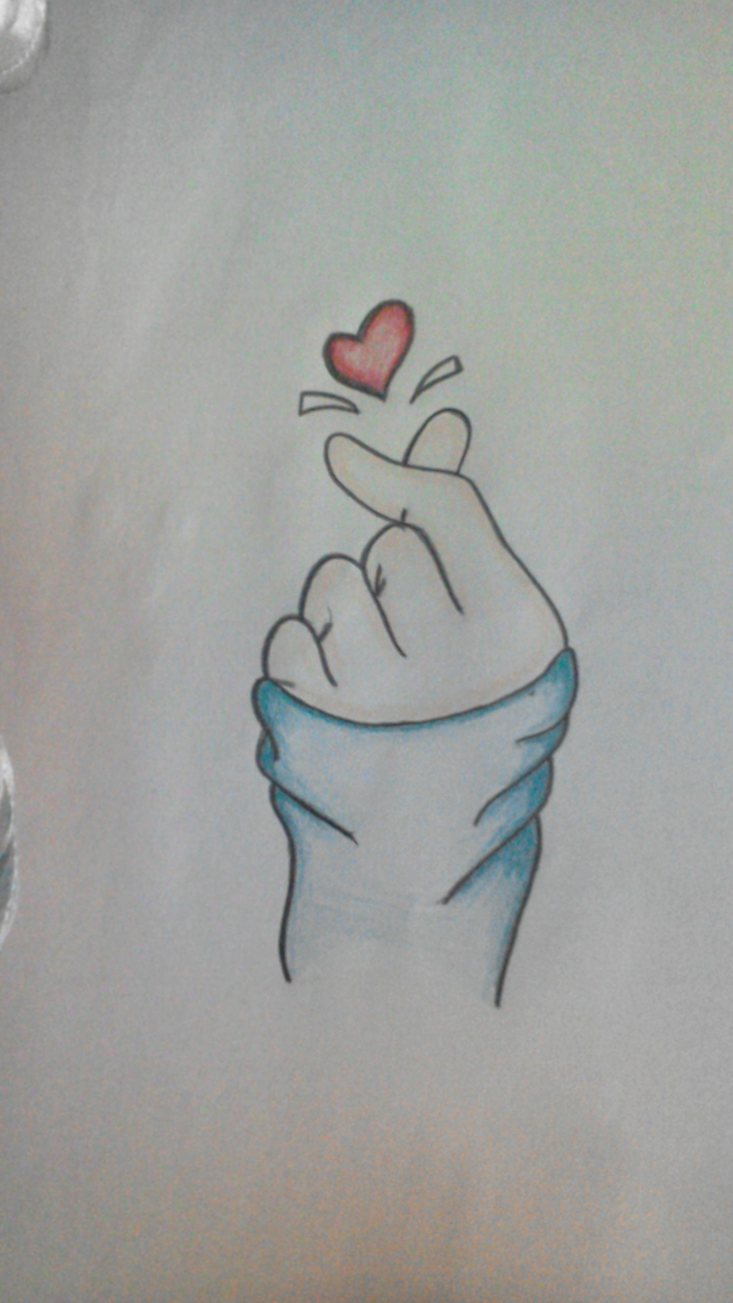 Heart with fingers drawing Heart drawing, Drawings, My