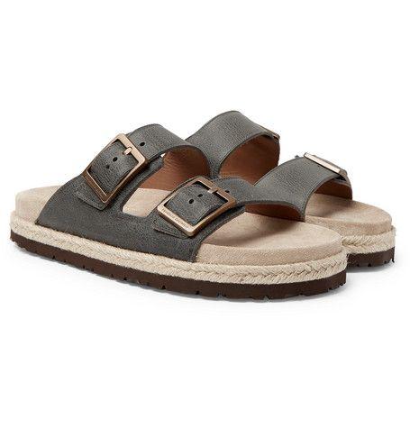 Full-grain Leather Sandals Brunello Cucinelli ZaD4b