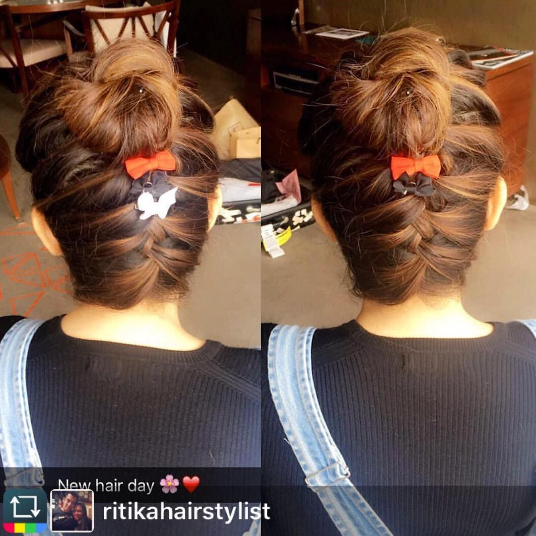No Photo Description Available With Images Hair Styles Bollywood Hairstyles French Braid Updo