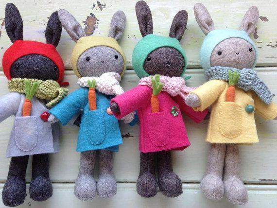 Thistledown Rabbits Pattern   Baby nähen, Stofftiere und Hase