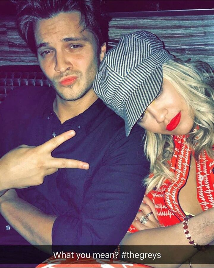 Rita Ora (Mia Grey) and Luke Grimes (Elliot Grey) on Rita\'s Snapchat ...