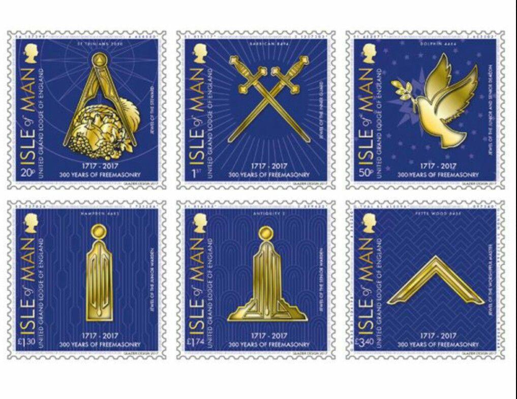 300 years of Freemasonry  Six stamps marking three hundred
