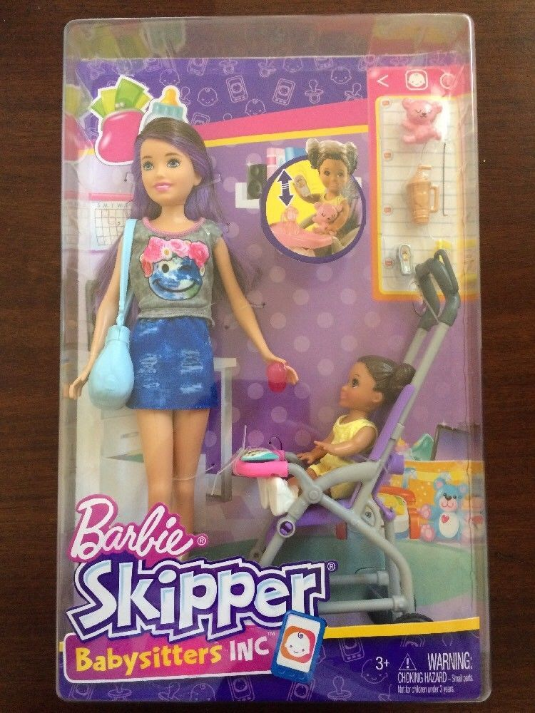 2018 Barbie Skipper Babysitters Inc Doll Toddler Stroller