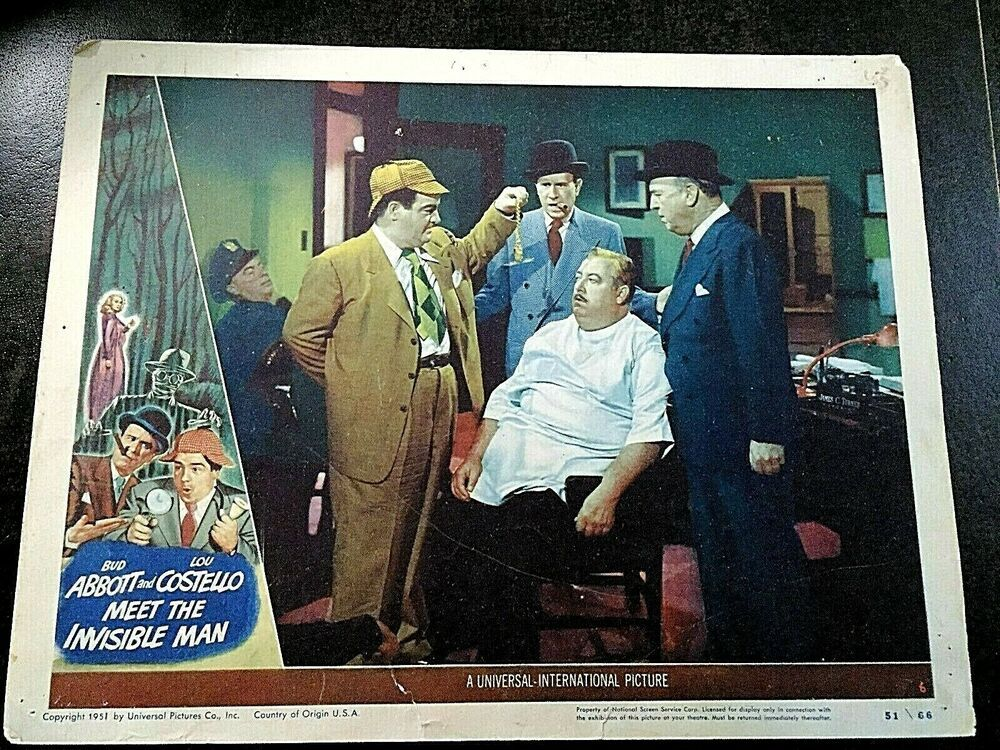Details About Abbott And Costello Meet The Invisible Man 1951