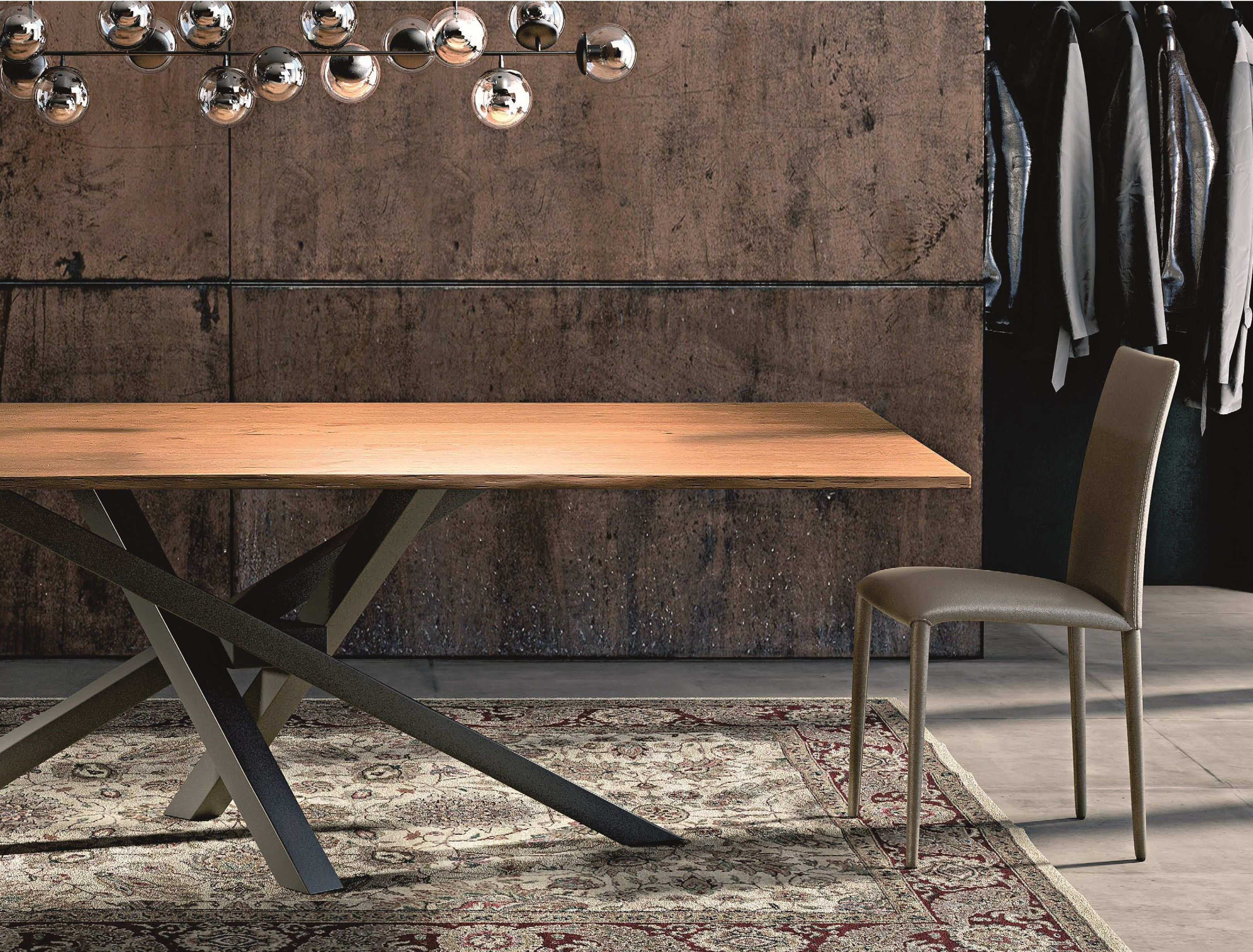 SHANGAI Mesa de acero inoxidable y madera by RIFLESSI | Ideas ...