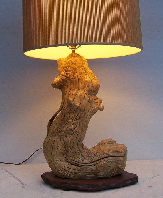 cr er une lampe avec un tronc d 39 arbre 20 id es sublimes id es pour la maison pinterest. Black Bedroom Furniture Sets. Home Design Ideas
