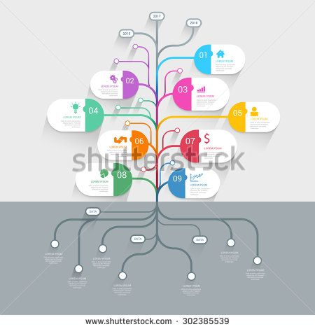 Stylish tree timeline process history mindmap business infographics stylish tree timeline process history mindmap business infographics template mockup web site infographic background concepts collection stock vector flashek Images