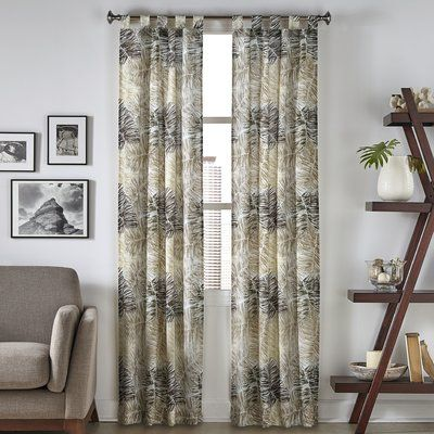 Bay Isle Home Brampton Tropical Curtain Panel Color Neutral Size