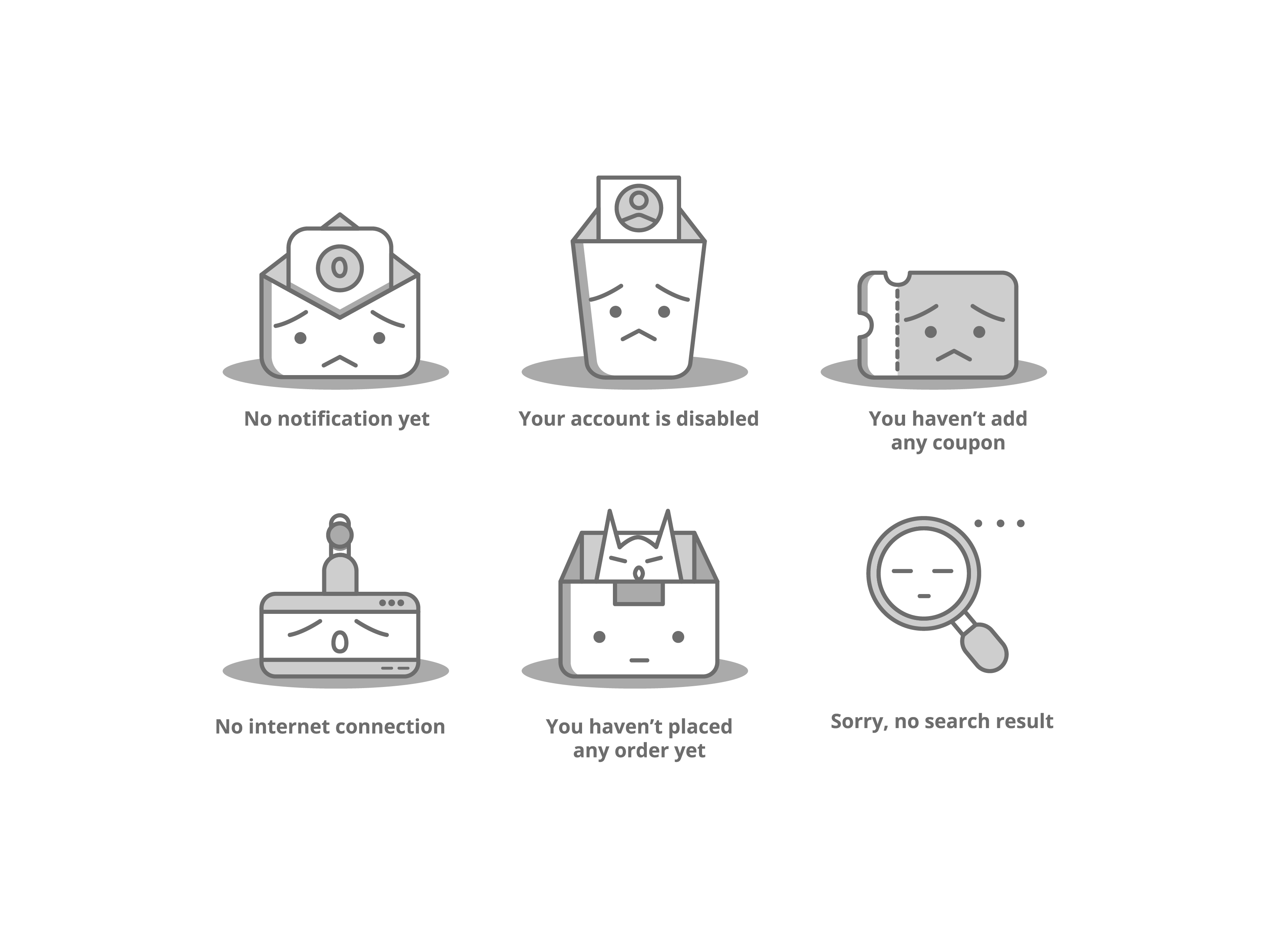 Empty State Cute Icon Empty State Cute Icons Icon