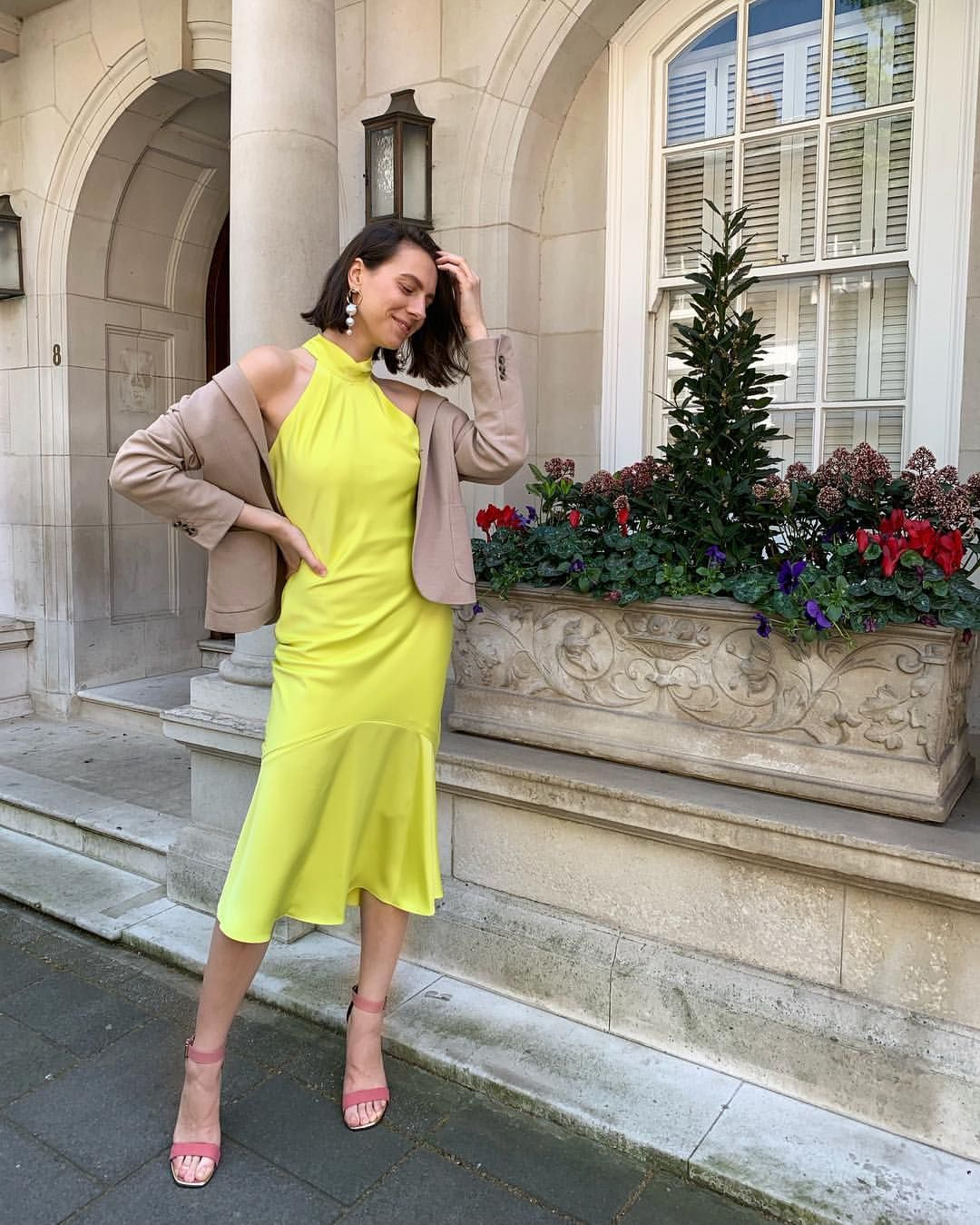Want To Be The Best Dressed Wedding Guest This Season Take Tips From Ristylistsophia And Opt For A Lime Green S Nice Dresses River Island Fashion Slip Dress [ 1349 x 1080 Pixel ]