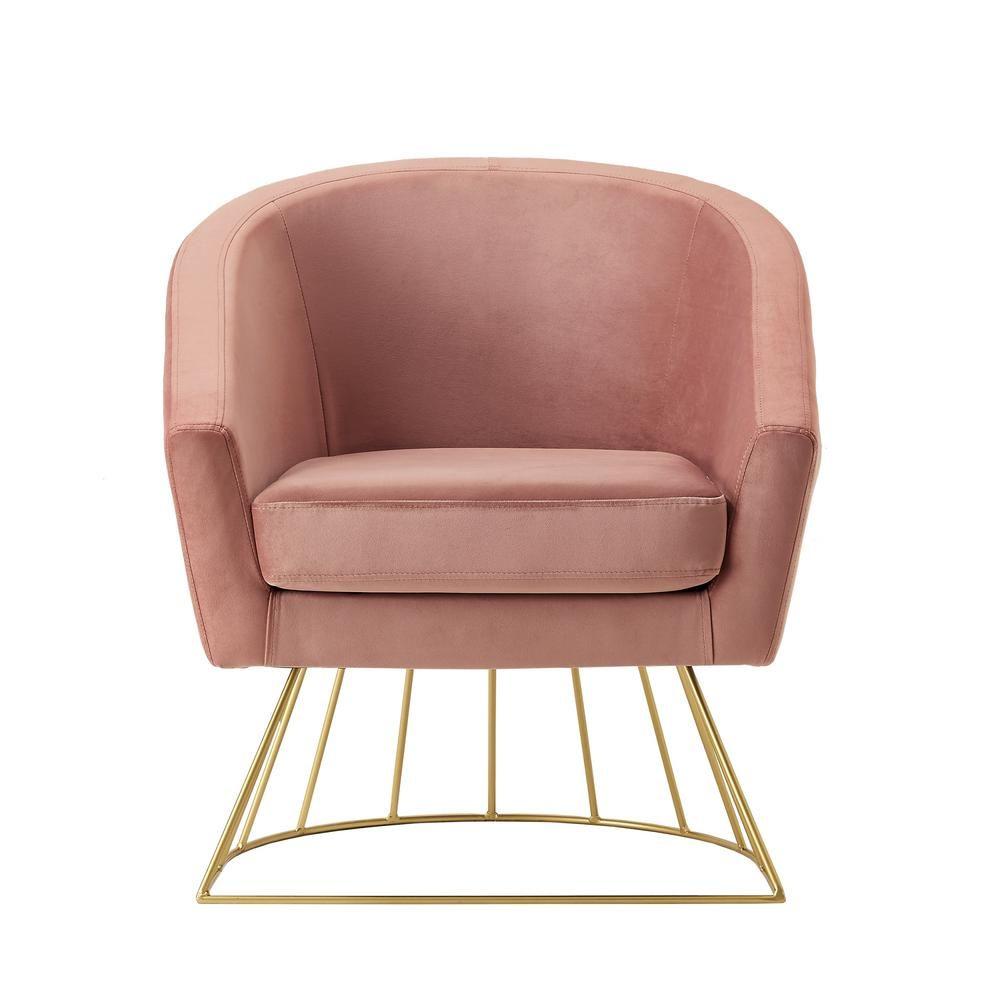 Superb Inspired Home Esmeralda Velvet Blush Gold Modern Ocoug Best Dining Table And Chair Ideas Images Ocougorg
