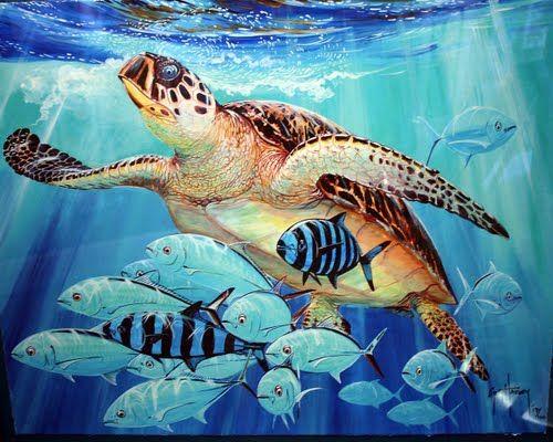Guy Harvey Art Photo Of Painting From Guy Harvey Art Gallery Grand Cayman Island Guy Harvey Art Marine Life Art Sea Life Art