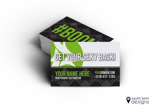 it works global boom get your sexy back business card - It Works Business Cards