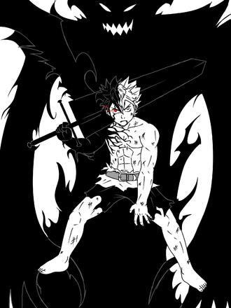 Asta Demon Mode Black Clover Anime Black Clover Manga Black Bull
