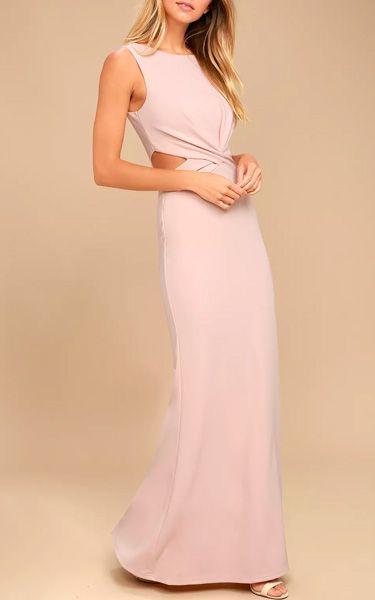 Trista Blush Cutout Maxi Dress @bestmaxidress