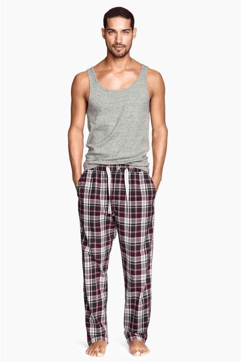 Uomo Boxer Cotone Biancheria Intima Abbigliamento Da Notte Nightwear Fly Pantaloni