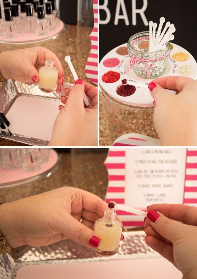 Check out this gorgeous DIY Nail Polish Bar! | Fun things to do ...