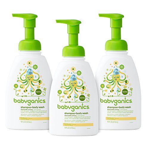 Babyganics Baby Shampoo Body Wash Pump Bottle Chamomile Verbena