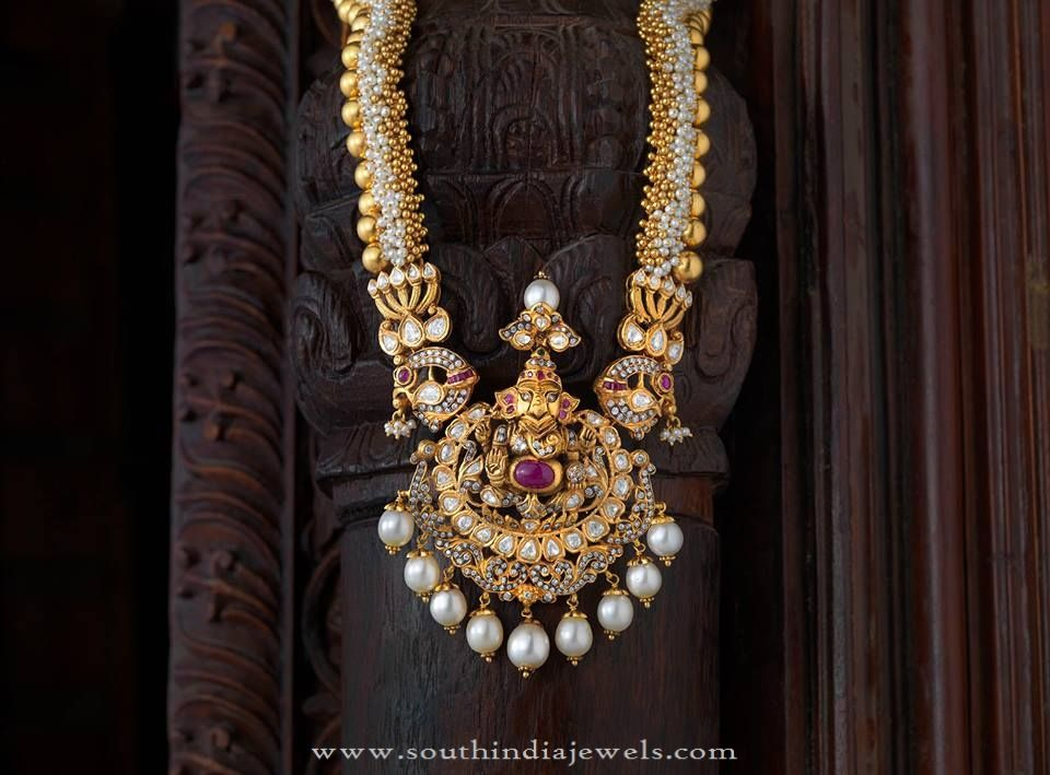 Traditional Antique Long Haram Design | Antique jewellery, Jewelry ...