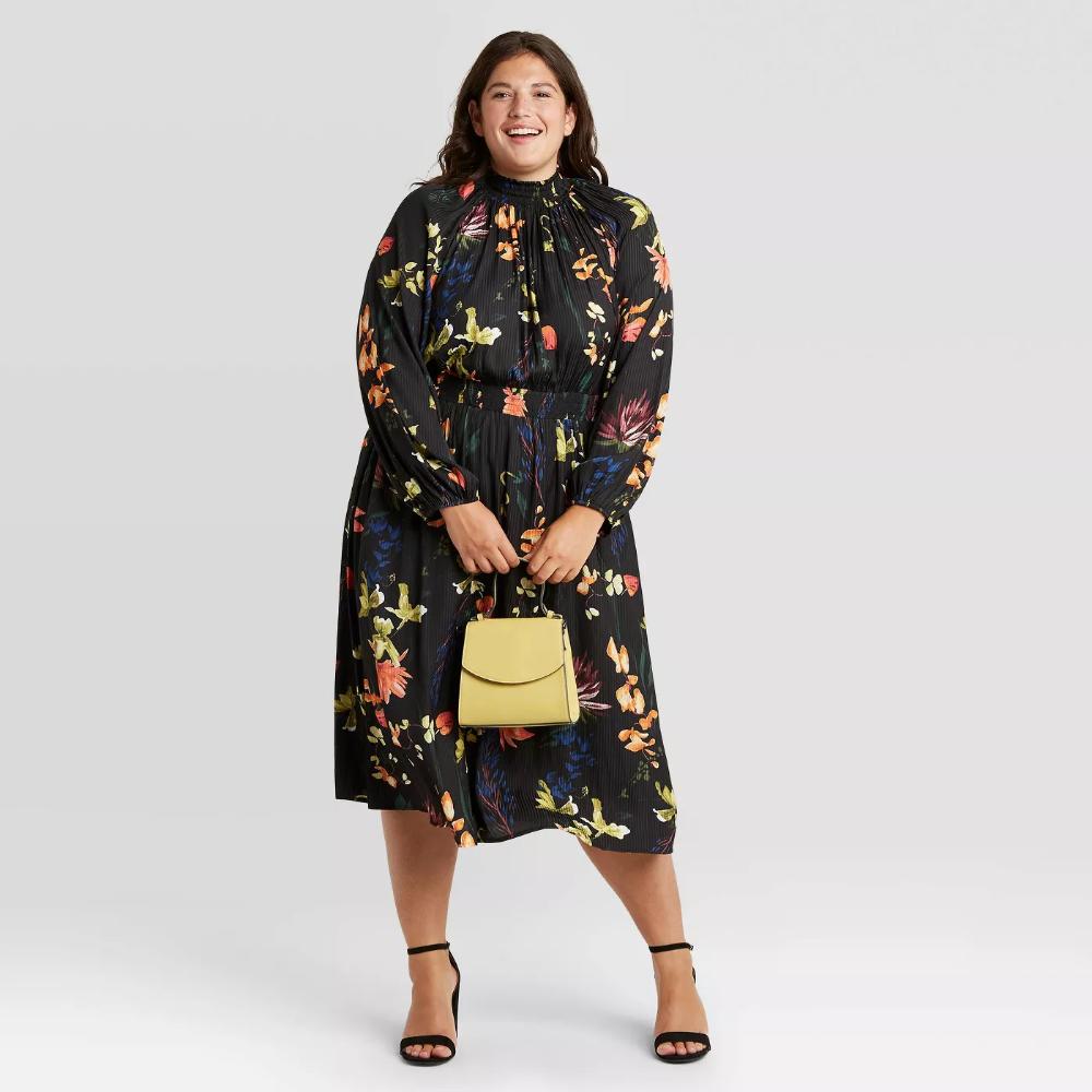 Women S Long Sleeve Smocked Dress A New Day Target Long Sleeve Smock Dress Women Long Sleeve Smocked Dress [ 1000 x 1000 Pixel ]