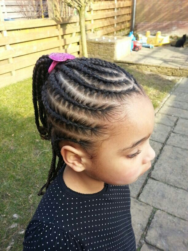 Simple But Cute Cornrows Kids Braided Hairstyles Lil Girl