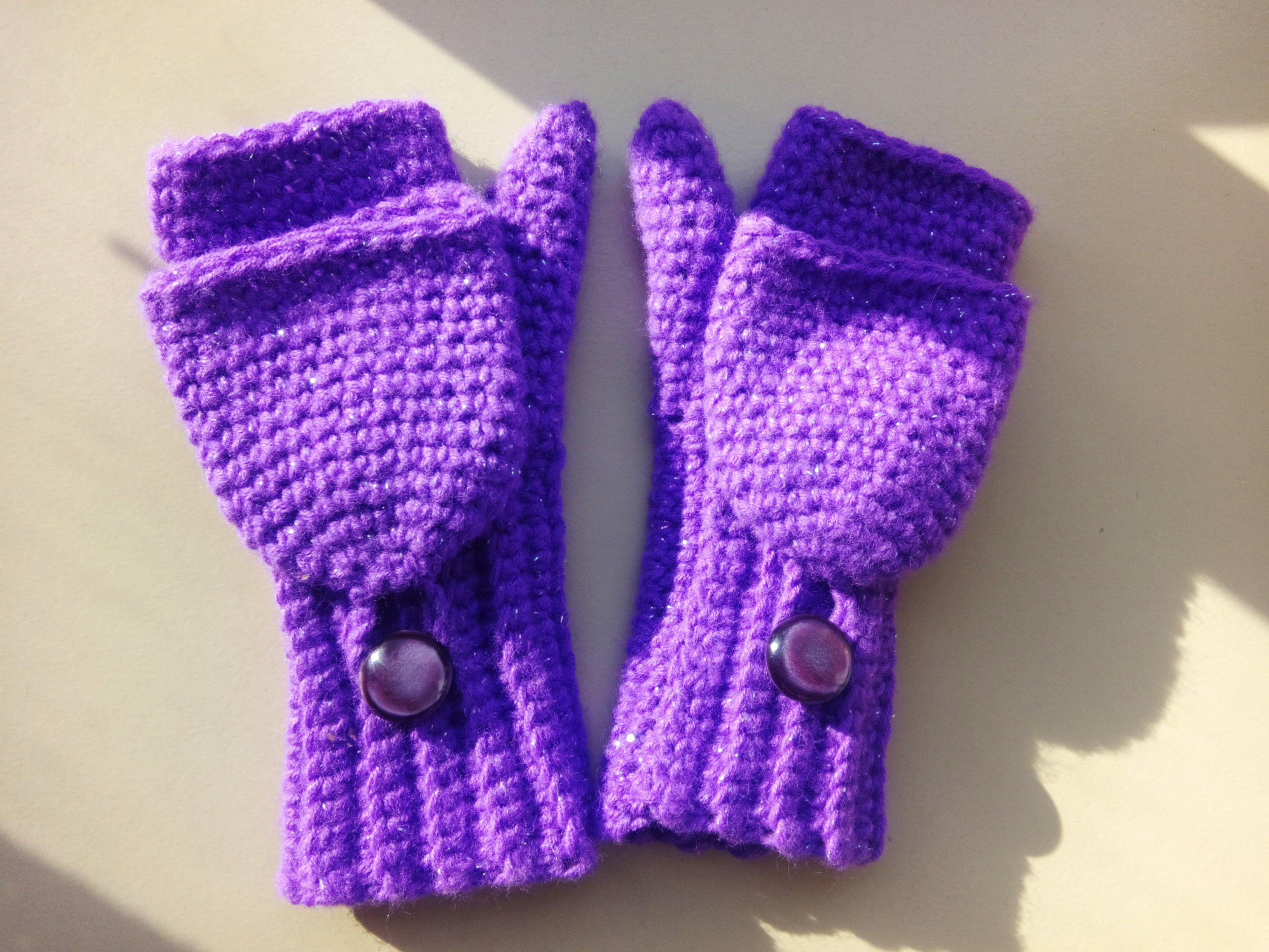 crochet convertible fingerless mittens   Videos de Guantes con y sin ...