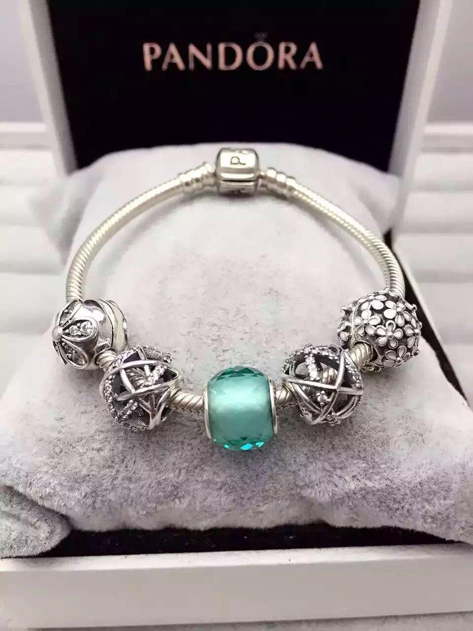 6b99d0824d01 50% OFF!!! $159 Pandora Charm Bracelet Green. Hot Sale!!! SKU ...