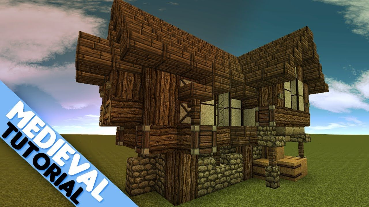 Minecraft simple medieval house tutorial minecraft for Medieval house design