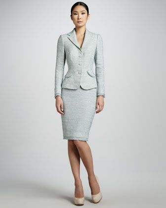 Textured Suit By Kay Unger New York At Neiman Marcus My Style In
