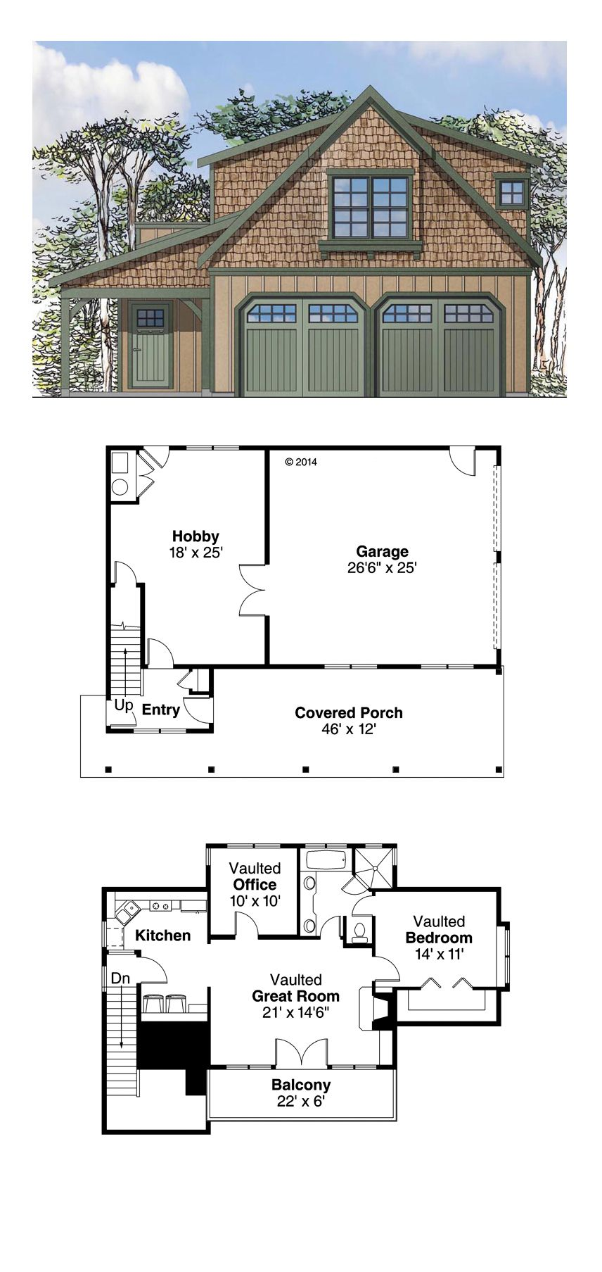 Garage apartment plan 41153 total living area 946 sq for Garage apartment plans canada