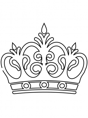Royal Crown Coloring Sheets