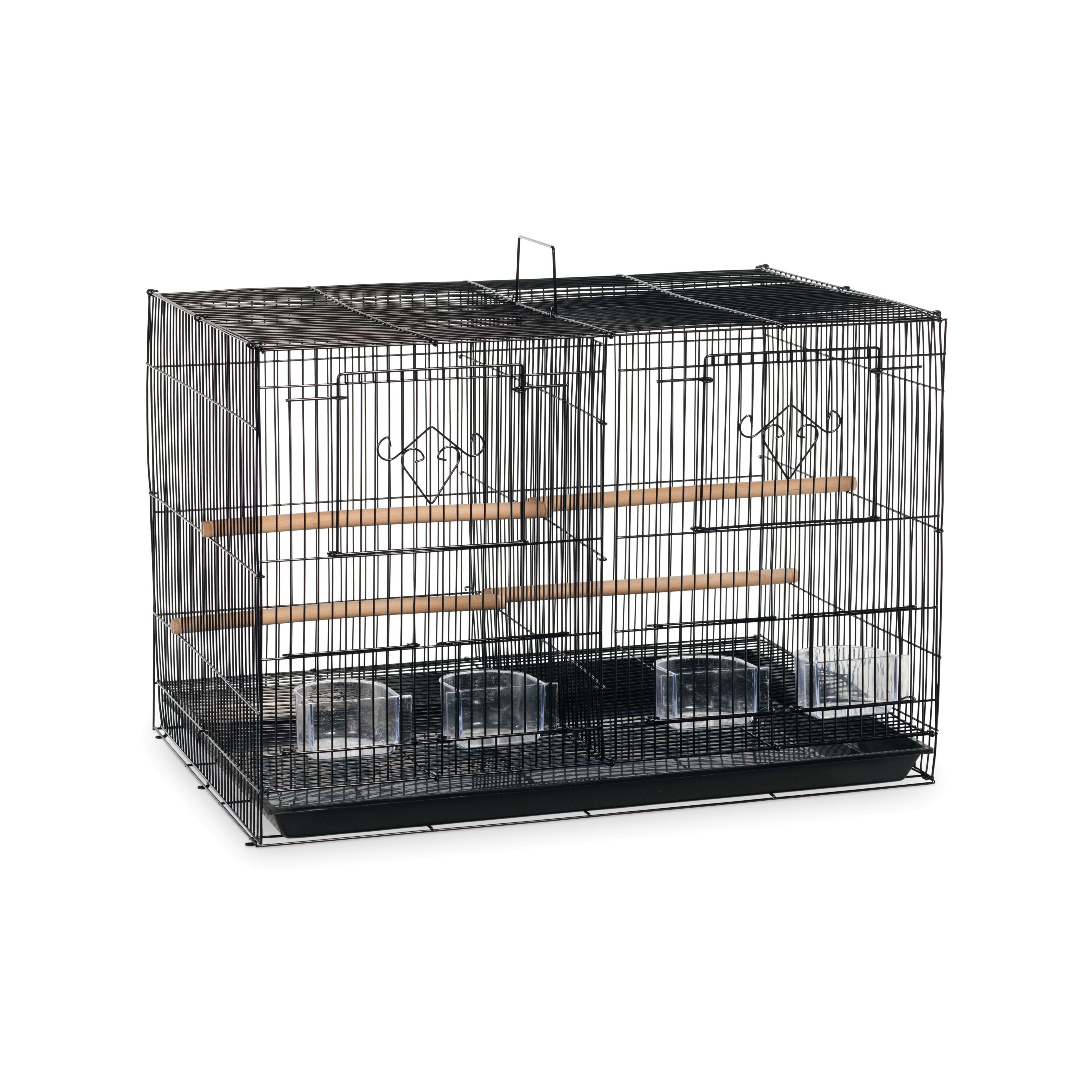 Prevue Pet Products Black Divided Flight Cage Black Flight Cage Small Bird Cage Bird Cage Stand