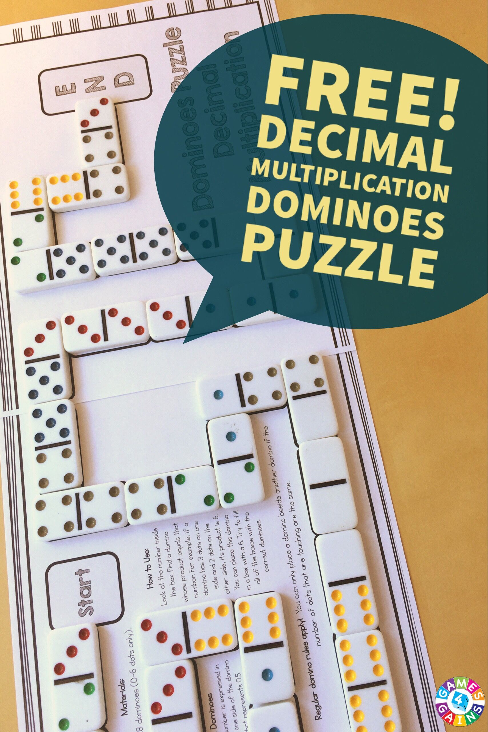 This FREE hands-on decimal multiplication puzzle gets students thinking critically while practicing this important skill!