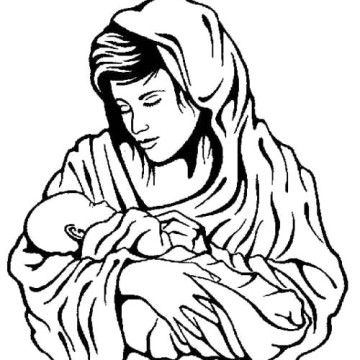 Related Pictures Baby Jesus Virgin Mary And Baby Jesus Coloring ...