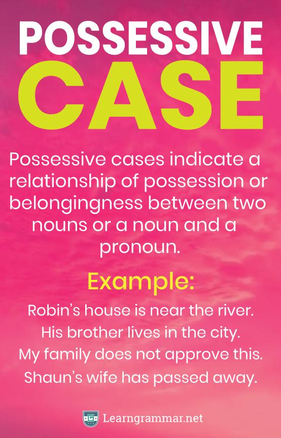 Possessive Case Grammar Exercícios de inglês, Escola
