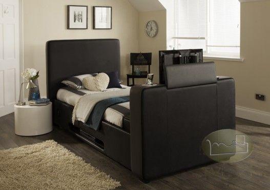 Best Imedia Black Grey With Storage 3Ft Single Tv Bed Free 400 x 300