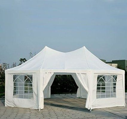 Outsunny 22u0027 x 16u0027 Large Octagon 8-Wall Party Canopy Gazebo Tent - & Outsunny 22u0027 x 16u0027 Large Octagon 8-Wall Party Canopy Gazebo Tent ...