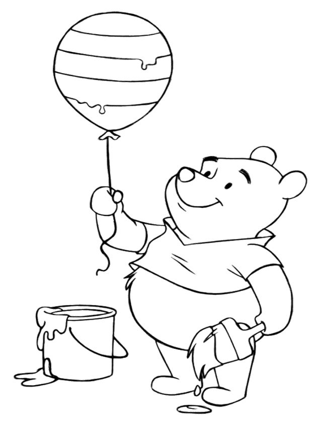 Winnie The Pooh Was Holding A Happy New Year With Balloon