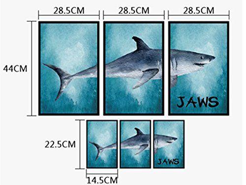 $9.89 - 3D White Shark Frame Wall Stickers DIY Mural Art Decal Self ...