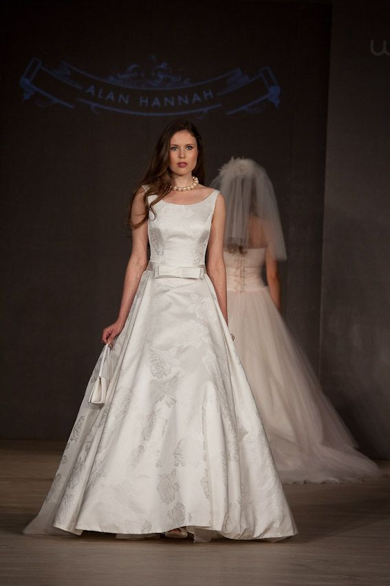 Eliza By Alan Hannah Is A Fabulous Fifties Inspired Wedding Gown With Beautiful Boat Neck Shaping