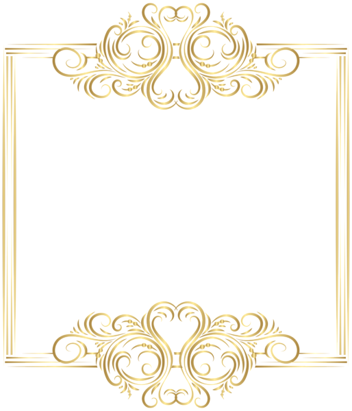 Gold Border Frame Png Clip Art Clip Art Borders Gold Border Design Gold Photo Frames
