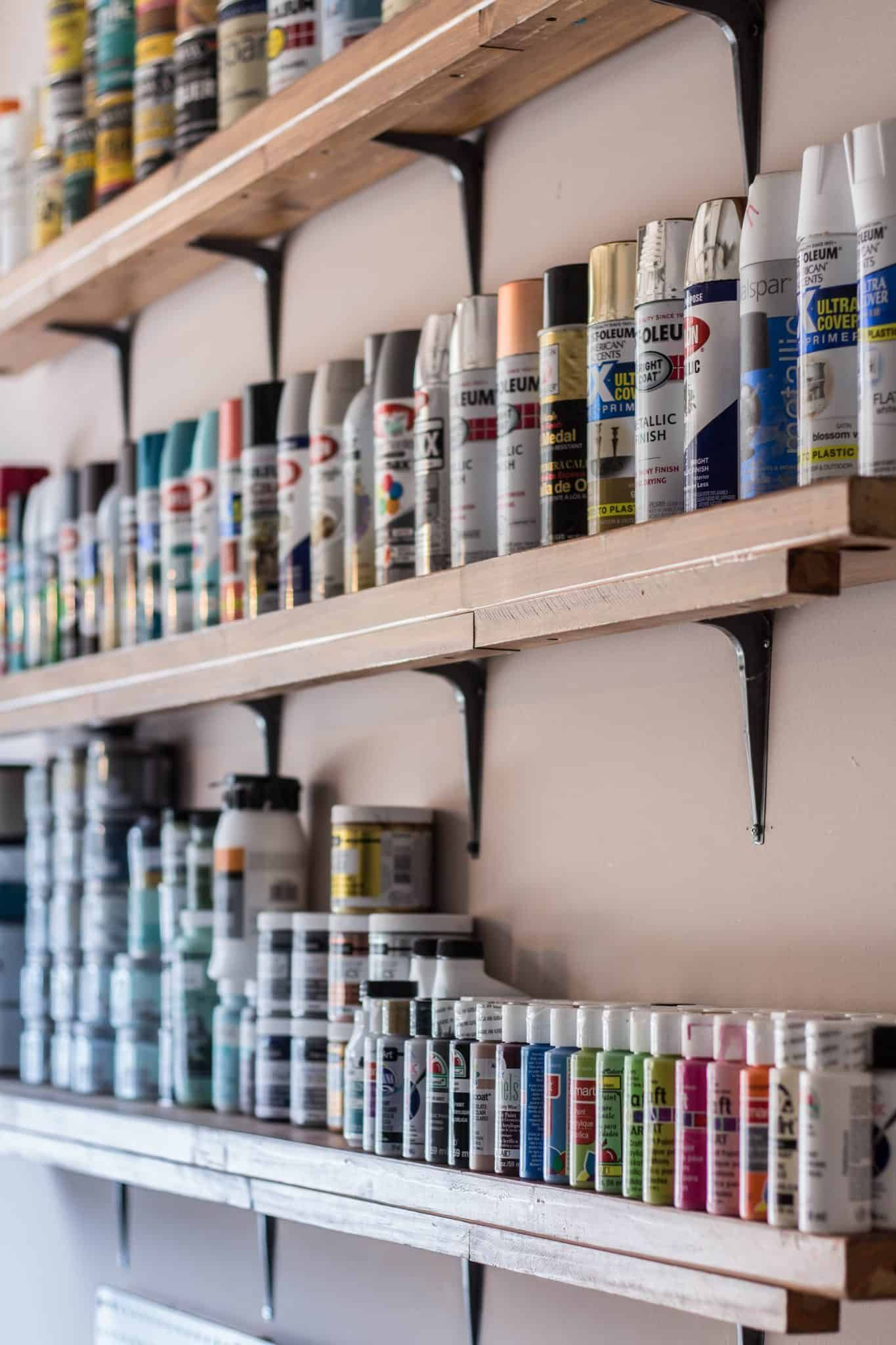 how to organize paint supplies savvy apron in 2020 on attractive garage storages ideas to organize your garage get these few tips id=15051