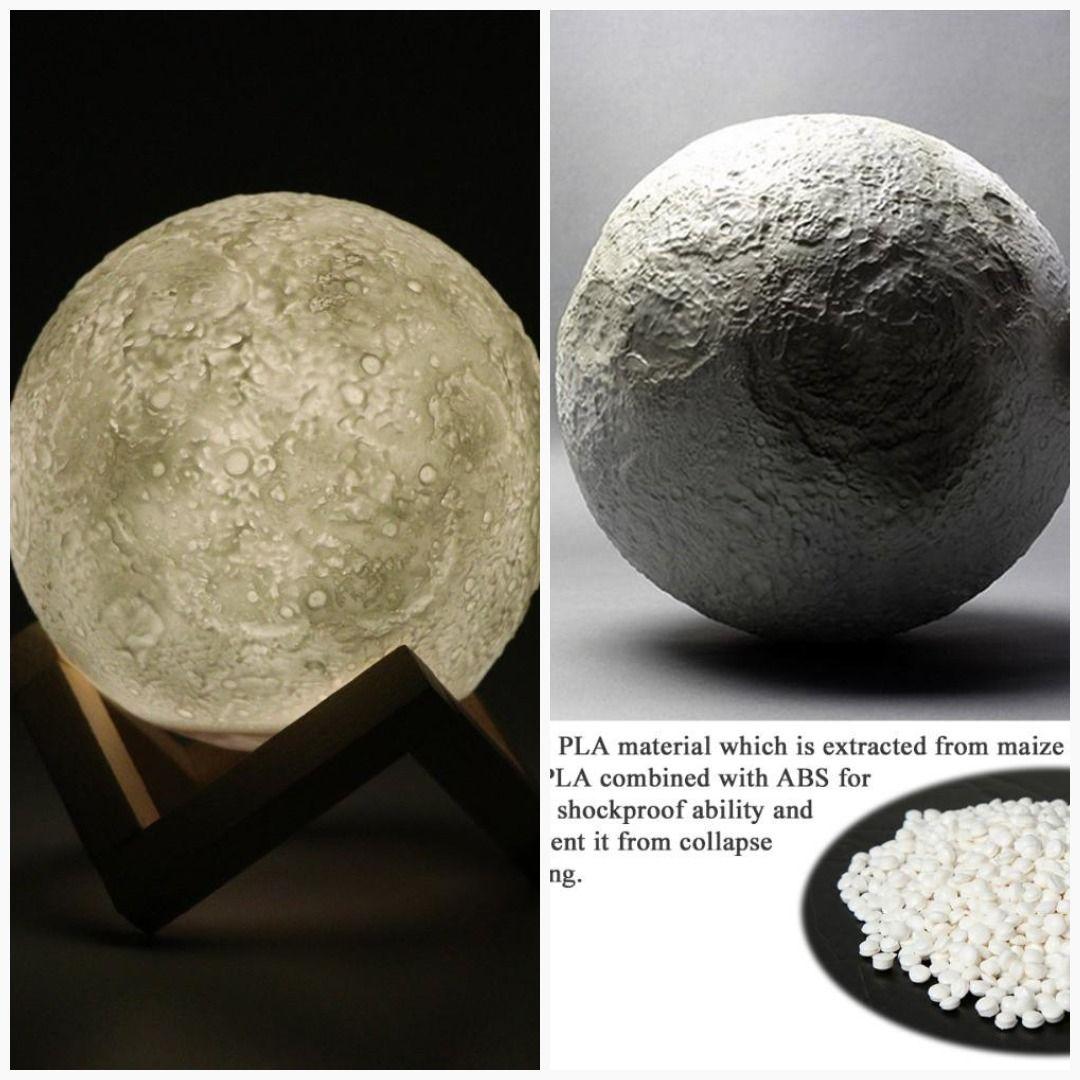 Micromake 3d Print Moon Lamp 3d Printing Print Lamp