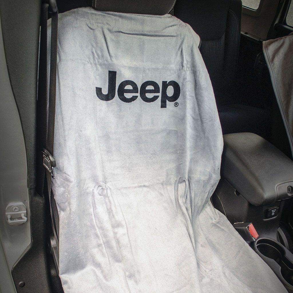 Jeep Seat Towel Gray with Jeep Logo (Universal) Jeep