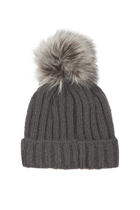 089142fd32417 Faux Fur Pom Beanie